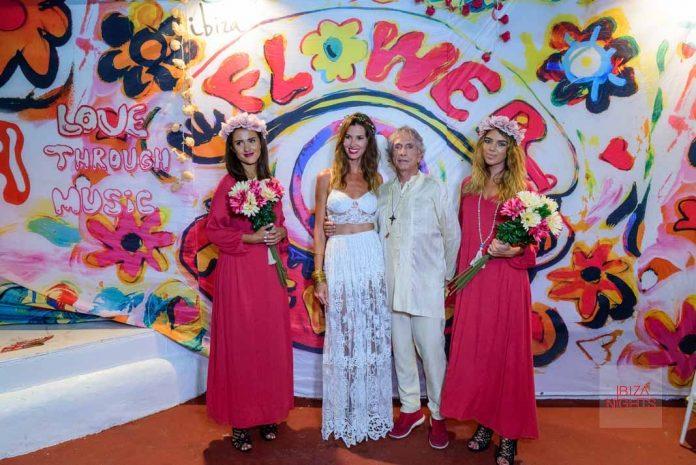 Cayetana G. Cuervo y Francisco Ferrer, Brand Ambassador de Pacha en el Flower Power Vip del pasado año