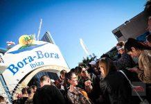 Fiestas bajo el sol en Bora Bora Ibiza. Foto: Karina Sayas